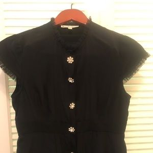 Nanette Lepore black silk top